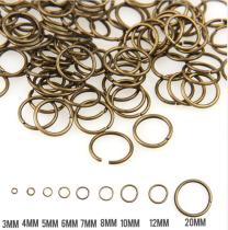 8g/500g Antique Bronze  3/4/5/6/7/8/10/12/20mm Tone Metal Open Jump Rings