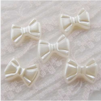 1000Pcs  12*8mm ABS Patterned Bow  Pearl Cobochon