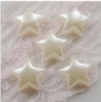 2000Pcs 11*11mm ABS Stars Pearl Cobochon