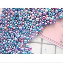 シンフォニーFantasy color 穴なしパールビーズ   10g  20セット 3mm,4mm,5mm,6mm,8mmミックス