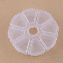 1pcプレスチック収納ケース10.3*2.6cm / lattice:2.8*2.8*2.3cm