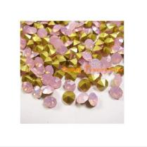 pink opal ピンクオーパル ガラスストーンVカット   チャトン