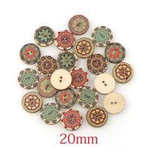 1set(50pcs)20mm ウッドボタン