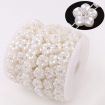ABS pearl beads chain   10pcs   15mm  Pure white