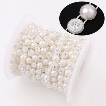 ABS pearl beads chain  10pcs  8mm  off White