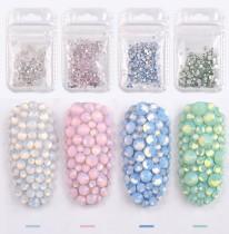 opal glass rhinestone mix size ss4-ss20 /350pcs