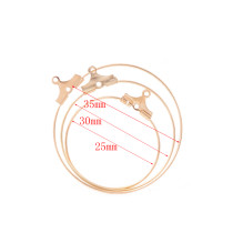 Copper circle pendant 20 pcs