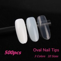 500pcs/pack Oval Shape Nail Art Tips Full Nail False