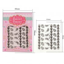 1Pc Feather Stripe 4 Colors Gold Silver Stereoscopic Nail Sticker