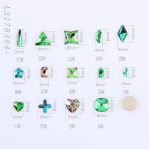 5Pcs High Quality K9 Flat Rhinestone Flame Volcano Color Nail Art Rhinestone