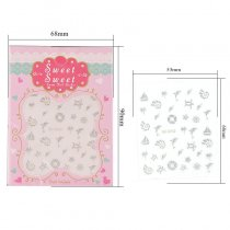 Animal Design 4 Colors Stereoscopic Nail Sticker