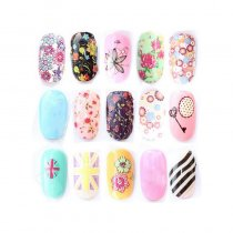 QJ-025-036 Water Transfers Stickers Small Sheet Nail Decals Stickers