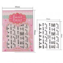 N Love Letter Design 4 Colors Stereoscopic Nail Sticker