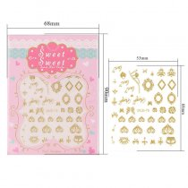 Butterfly Flower Design 4 Colors  Stereoscopic Nail Sticker