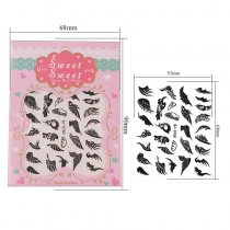 Beautiful Wing 4 Colors Black White Gold Silver Stereoscopic Nail Sticker