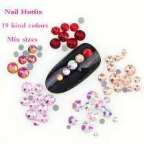 About 300pcs/lot  Nail Art Hotfix Rhinestone