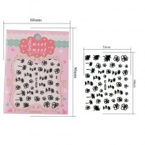 Coconut Tree Flower Design 4 Colors Stereoscopic Nail Sticker