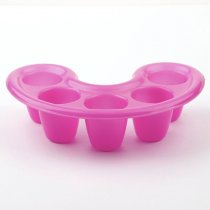 1Pc 10.5*15cm Rose Red Five Holes Hand Wash Remover