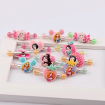 wholesale 10Pieces  Korean Children Hair Accessories Cartoon Animal Princess Spring Pull Clip Folder Word Clip Hairpins DIY Hair Accessories