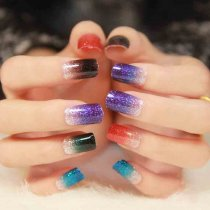 QJ109-124 12Tips/Pc Full Cover Nail Decals