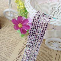 2017 New Style 1 Meter Rhinestone Chains Mix Purple/Light Purple/Crystal AB Color Silver Plated Base For DIY Beauty Accessory,Nail Art