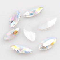 wholesale  A+ Quality Navette Marquise Pointback Rhinestone Beads Crystal Clear AB Glass Fancy Stone DIY Wedding Dress Jewelry Making