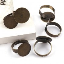 10pieces Round Ring Flat Pad bezel Embellishments Cabochon Bases