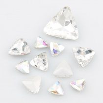 wholesale High Quality Triangle Pointback Rhinestone Beads Crystal Clear Glass Fancy Stone DIY Wedding Dress Jewelry Making
