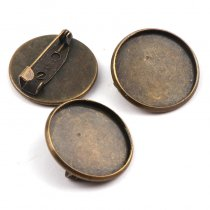 10pieces  22mm Fit 20mm  Round Brooch Base Cabochon Blanks
