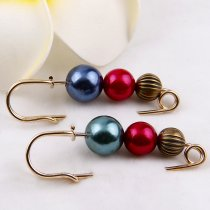 1Piece 60x20mm   Gold Alloy Simulated Pearl Brooch Pin