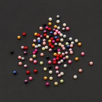 1000pcs 3MM Shiny ABS Unpunched Imitation Pearl Nail Art Stickers