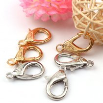 5Pieces   20x31mm Double-Leaf&Shoes  Lobster Clasps Hook Key Chain
