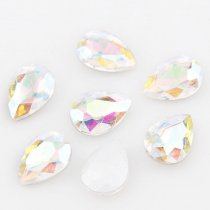 wholesale High Quality Teardrop Pointback Rhinestone Beads Crystal Clear AB Glass Fancy Stone DIY Wedding Dress Jewelry Making