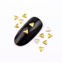 New 4mm/3mm/3x5mm Triangle Hot Fix Nail Art Rivet Punk