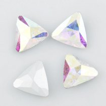 wholesale High Quality Triangle Pointback Rhinestone Beads Crystal Clear AB Glass Fancy Stone DIY Wedding Dress Jewelry Making