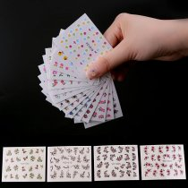 50Sheets Water Transfer Nail Sticker Colorful Different Flower