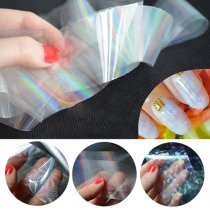 6pcs/pack 4*120cm  Transparent Nail Foils Starry Sky Glitter Nail Art  Sticker