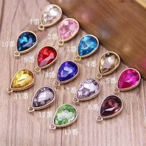 19x12mm 10pieces Metal Decoration Parts drop Handmade Rhinestone