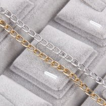 Aluminum Metal Silver&Rose Gold Necklace Chains
