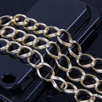 1 Meter  1.8x3.4x13.5x19mm Gold Textured Cable Necklace Twisted Curb Chains