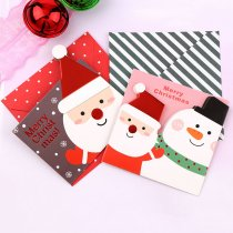 Merry Christmas Santa Claus Paper Greeting Postcards
