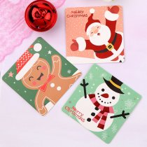 Mini Santa Claus Merry Christmas Tree Paper Greeting Postcards
