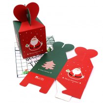 Christmas Series Santa's Paper Gift Box Folded Christmas Apple Box