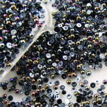 10000Pcs 1.5mm  ABColors, Mulity Color ABS Half Round Imitation Pearls Beads