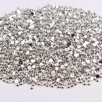 10000Pieces1.5mm-,5mm  Slver Color ABS Half Round Imitation Pearls Beads
