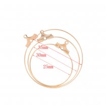 Copper circle pendant 20 pcs