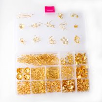Imitation gold ancient blue white K basic accessories set