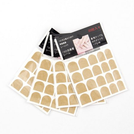 20Tips/bag Cute Sticky False Nail Tips Double Sided Adhesive Tapes Stickers