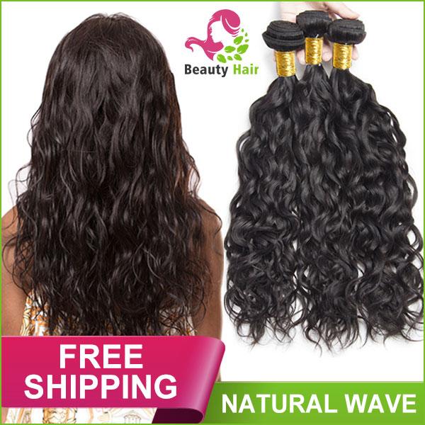 9a Peruvian Natural Wave Human Hair Extensions Brazilian Natural