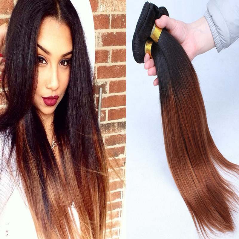Two Tone Color T1b30 Color Top Quality Brazilian Hairbrazilian